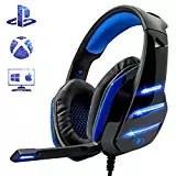 Cuffie Gaming per PS4 PC, Beexcellent Super Confortevole Stereo Bass 3.5mm Headset Gaming con Microfono per Xbox One, Portatili, Mac, Tablet e Smartphone