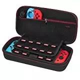 Custodia per Nintendo Switch – Younik Case Rigido da Viaggio Versione Aggiornata con più Spazio per 19 Cartucce, Caricabatteria Originale e altri Accessori per Nintendo Switch