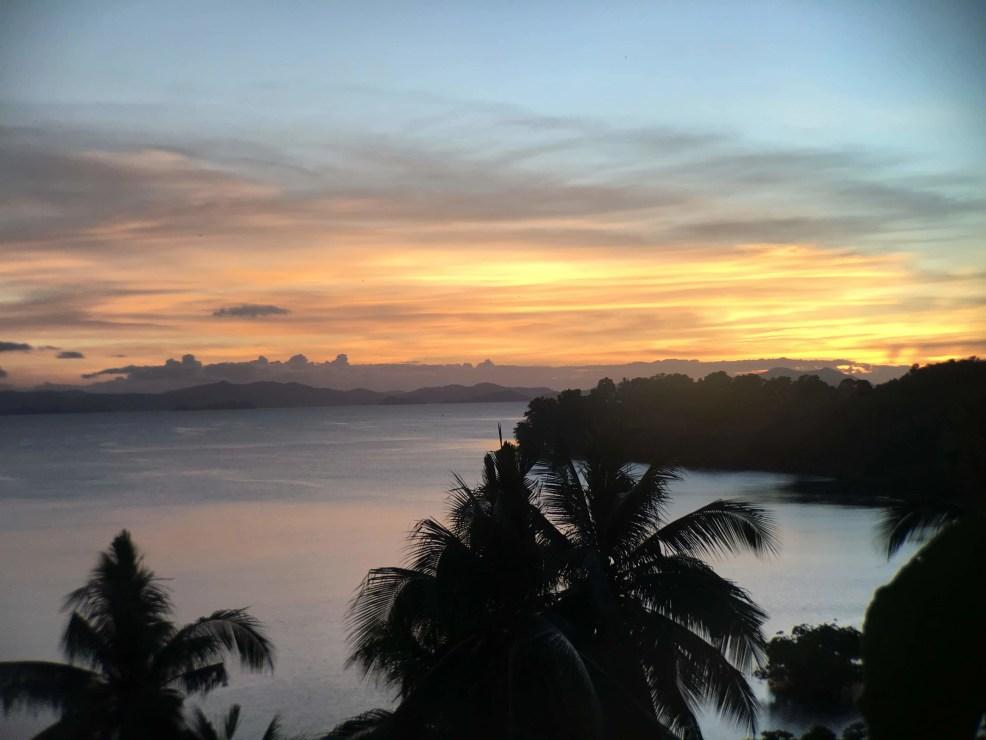 Palawan tourist spots, sunset at San Vicente, Palawan