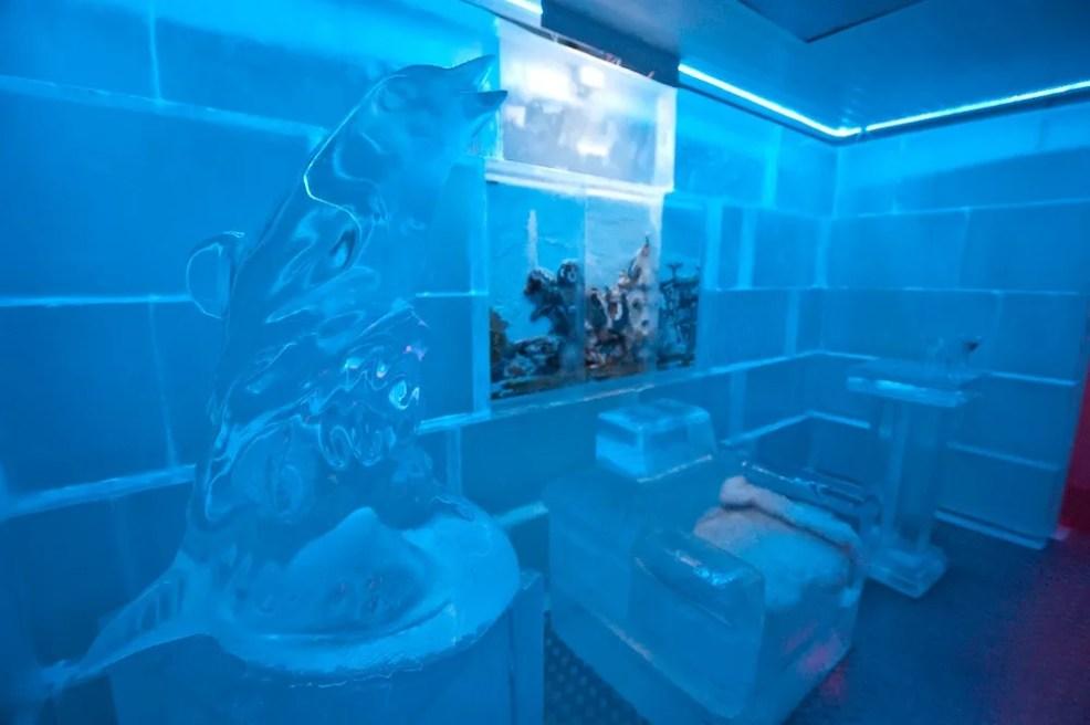 Ice Bar in Madrid,