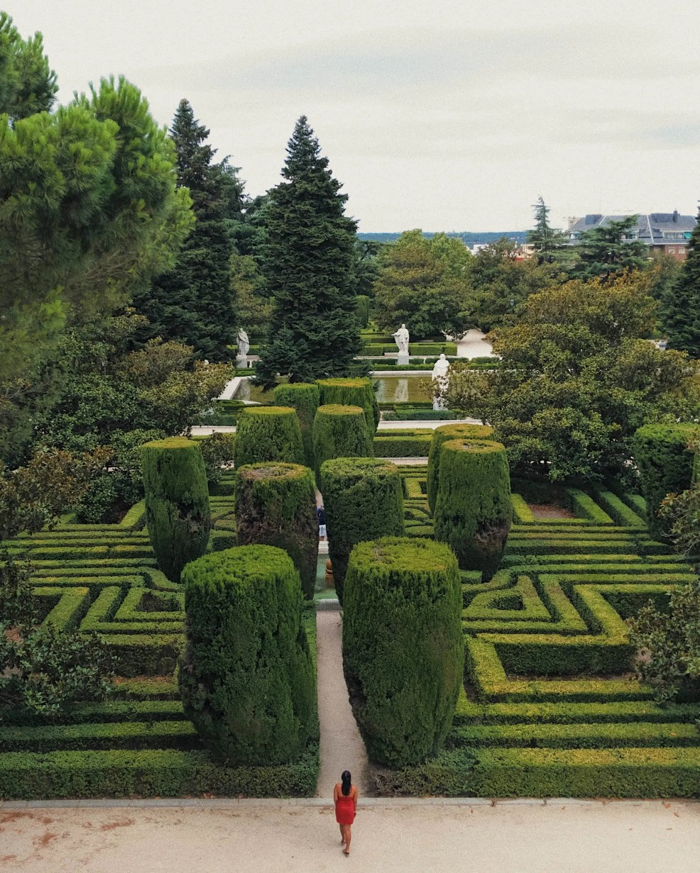 Instagrammable places in Spain, Madrid, Jardines de Sabatini, Sabatini Gardens