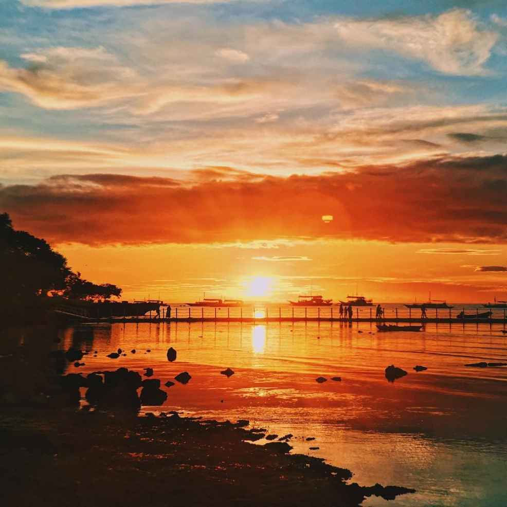 sunsets in the Philippines, sunset in Panglao