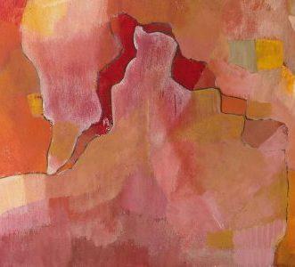 rot III, 2016, Roggentempera auf Tafel, 30x40cm