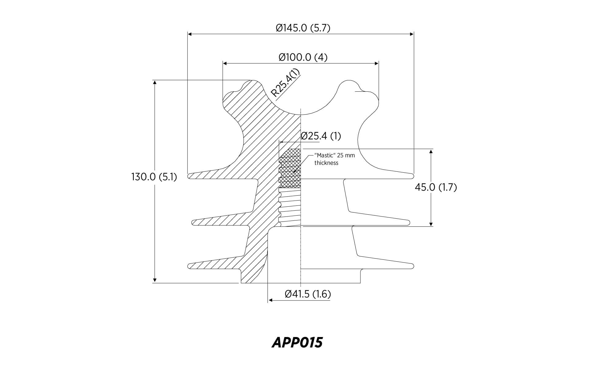Polyethylene Pin Ansi 55 4 15kv