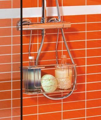 Contenedor de ducha para geles y champús SLIM de la marca Girardi de Grup Gamma para baños seguros para niños.