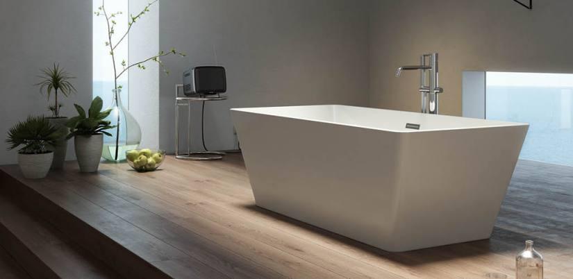Tendencias en baños este 2019. Pon una bañera exenta en tu baño.