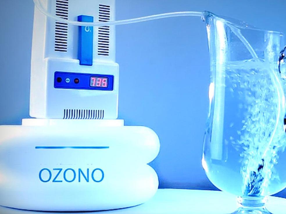 Tratamiento de ozono para filtrar el agua