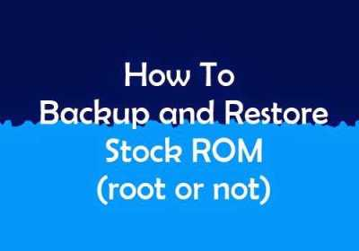 backup restore rom