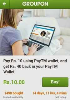 Paytm-Wallet-Offers-:-Pay-Rs-10-and-get-Rs-40-Cashback