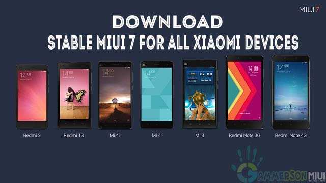 Download MIUI 7 Rom for Xioami Redmi 2,1s,Mi4i, Mi4, Mi3,Note 4G and Note 3G copy