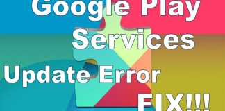 Google Play Services error fix