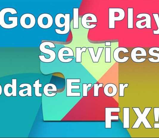 Google Play Services error fix