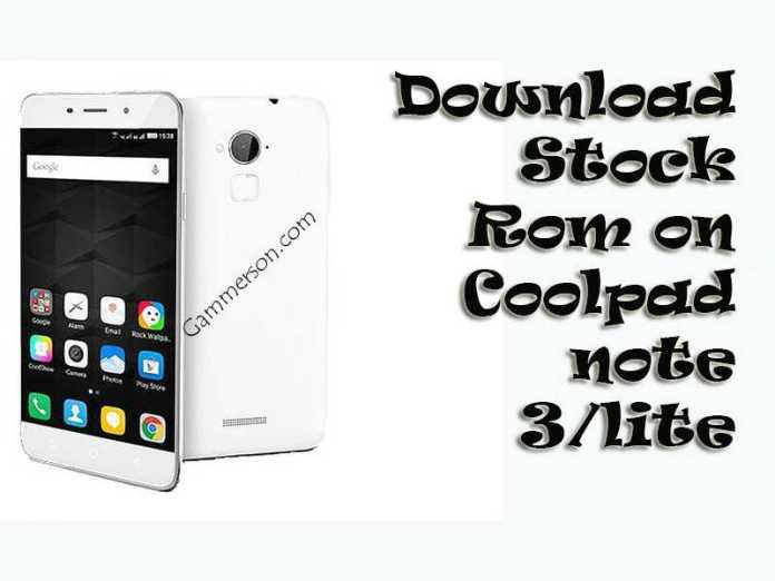 How to Install Stock Firmware on Coolpad Note 3/Lite.