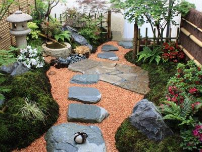 un jardin japonais dans la region