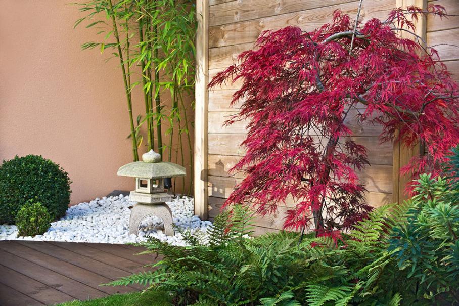 terrasse dans le style japonais gamm vert