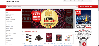 Uno screenshot di rakuten.co.uk