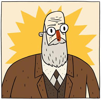 Sigmund Freud, uno dei protagonisti di Super Science Friend! - Gamobu