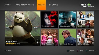 Uno screenshot di Amazon Instant Video su PlayStation