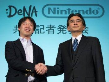 Simbolica stretta di mano tra DeNA e Nintendo