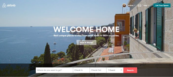 La home di Airbnb