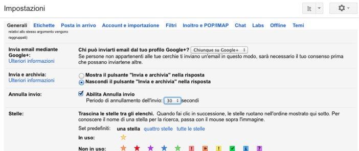 Impostare Annulla Invio su Gmail - Gamobu