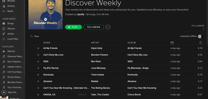 Discover Weekly, le playlist personalizzate di Spotify