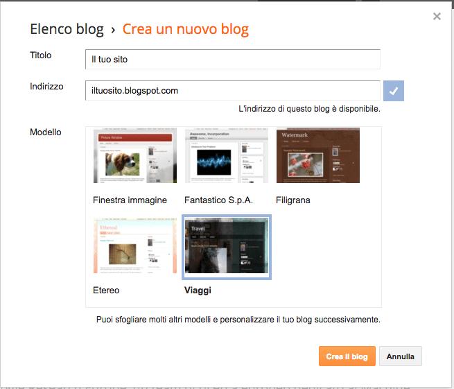 Blogger - Come creare un sito/blog con Blogger - Gamobu