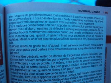 Article du fameux guide du routard, un poil exagere...