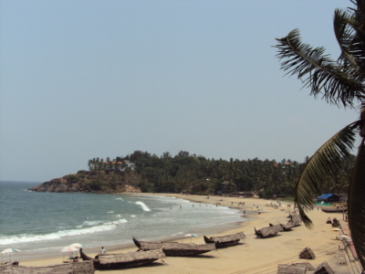 Vue depuis notre hotel de Kovalam