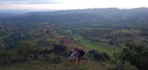 Avec notre guide et Lydia, au sommet du monde