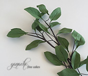 Handcrafted Sugar Flowers- Tree Leaves