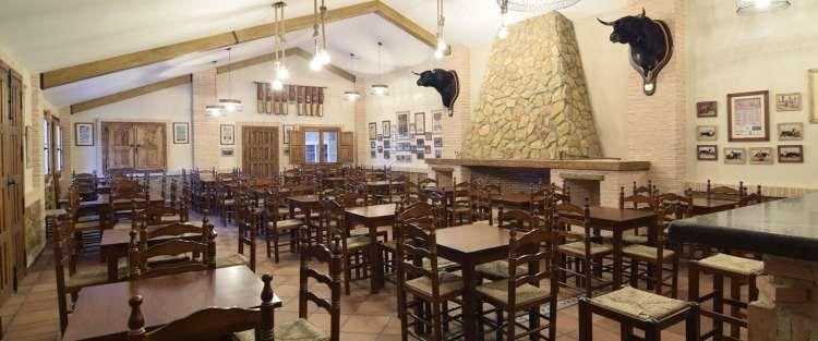 Vista interior del salón de la Ganadería San Isidro