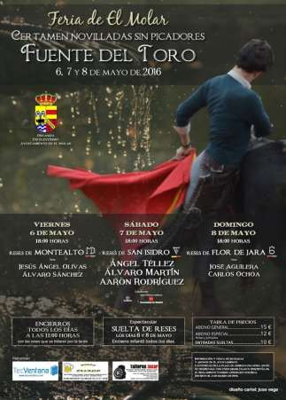 Cartel del Festejo de El Molar, 7 de Mayo de 2016