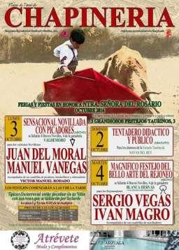 Cartel tentadero publico de Chapinería Ganadería San Isidro