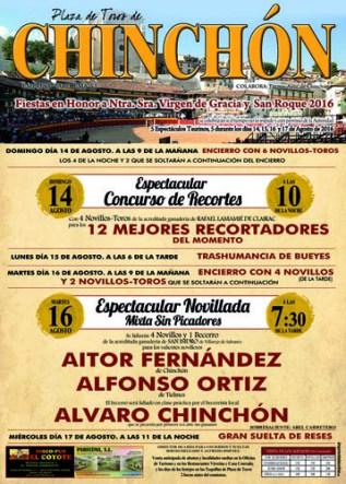 Cartel de la novillada de Chinchón Ganandería San Isidro