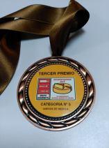 medalla 3 premio