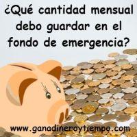 ¿Qué cantidad mensual guardo en el fondo de emergencia