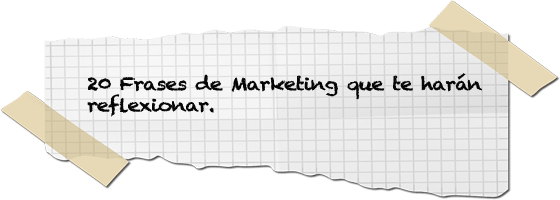 Frases de Marketing