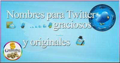 ¿Sabes cómo elegir nombres para Twitter graciosos y originales?