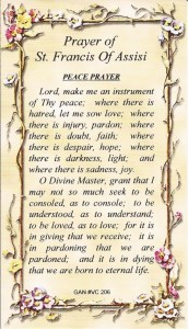 VC-206  PRAYER OF ST. FRANCIS OF ASSISI
