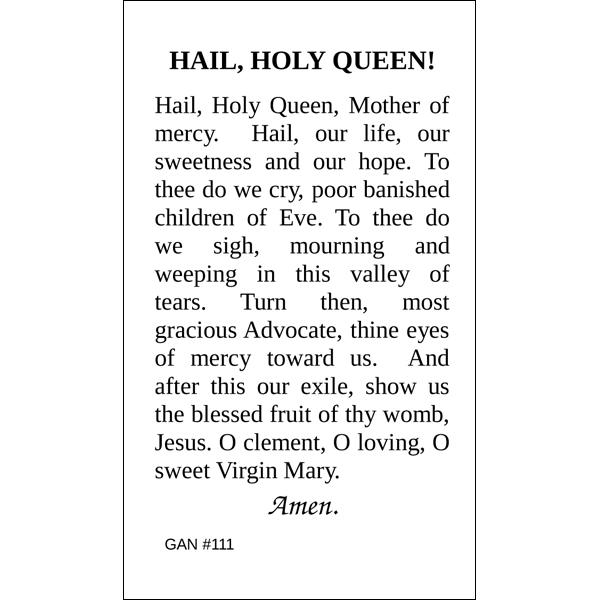 photograph regarding Hail Holy Queen Prayer Printable referred to as Hail Holy Queen Prayer Card