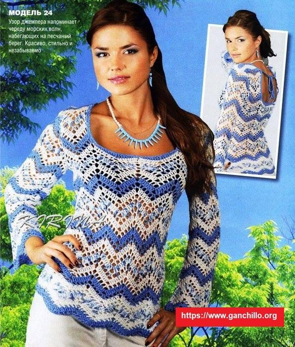 Blusa diseño zig zag