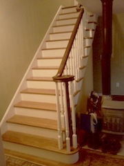 Hardwood Staircases Images Gandswoodfloors | Oak Stairs With White Risers | Natural | Red Oak | Character | Hardwood | Dark Walnut Staircase