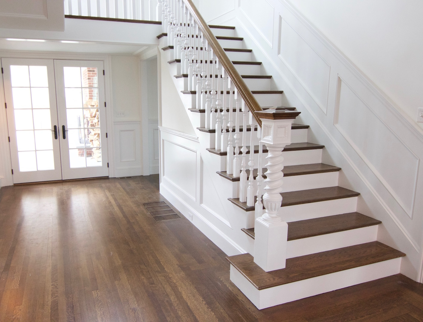 Hardwood Staircases Images Gandswoodfloors | Best Hardwood For Stairs | Treads | Oak | Stair Tread | Stain | Laminate Flooring