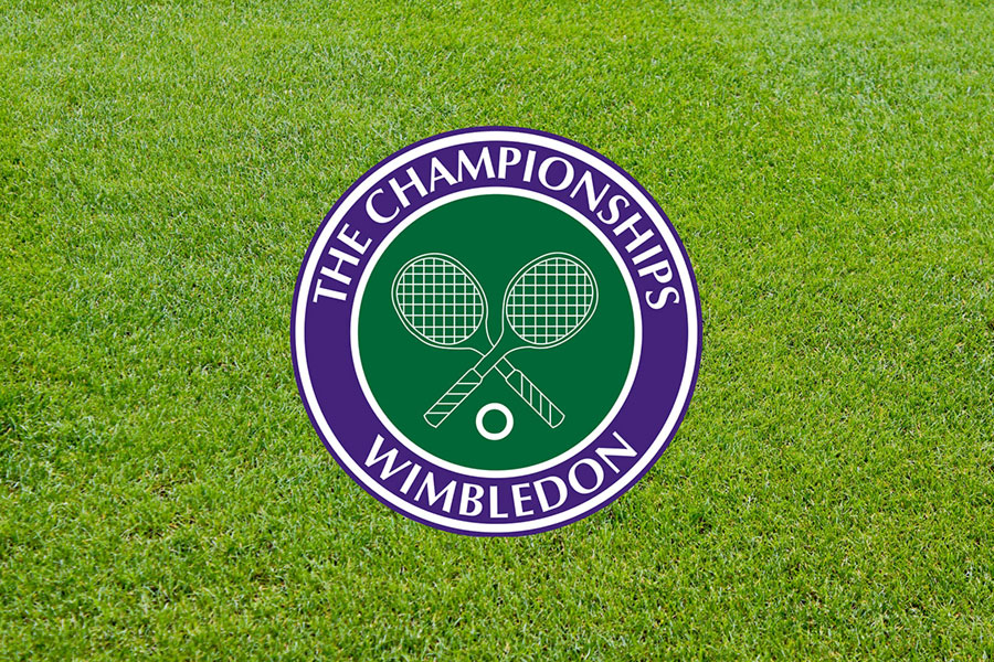 An image of the logo for the Wimbledon Tennis Championchips - book a chauffeur to this event from GandT Executive