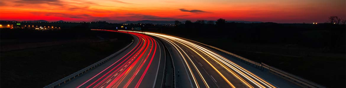 An image of a motorway at night. Find out more about GandT Executive and what separates us from our competitors.