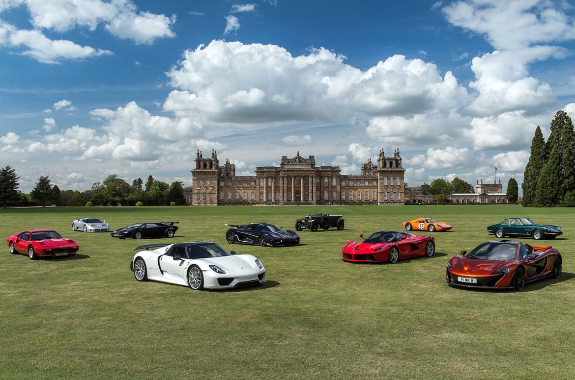An image of cars at the Salon Prive Boutique Motor Show - book a chauffeur to this event from GandT Executive