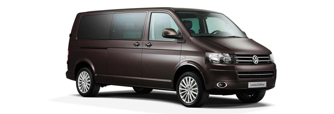 An image of a VW Transporter, part of GandT Executive's fleet of luxury chauffeur driven cars.