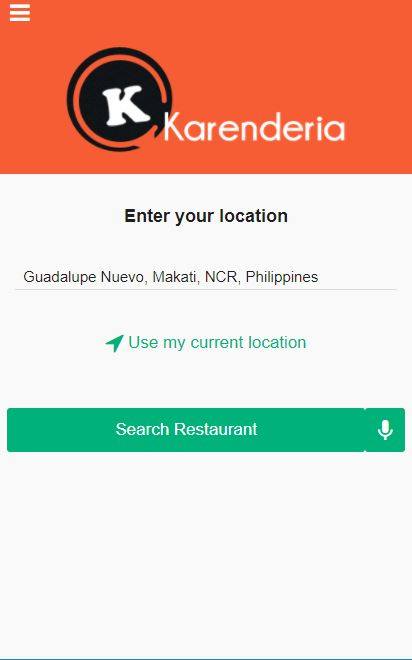 Voice Search for Karenderia Mobile App