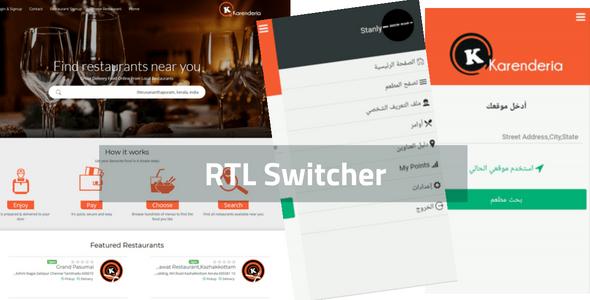 RTL Switcher for Karenderia Multiple Restaurants System